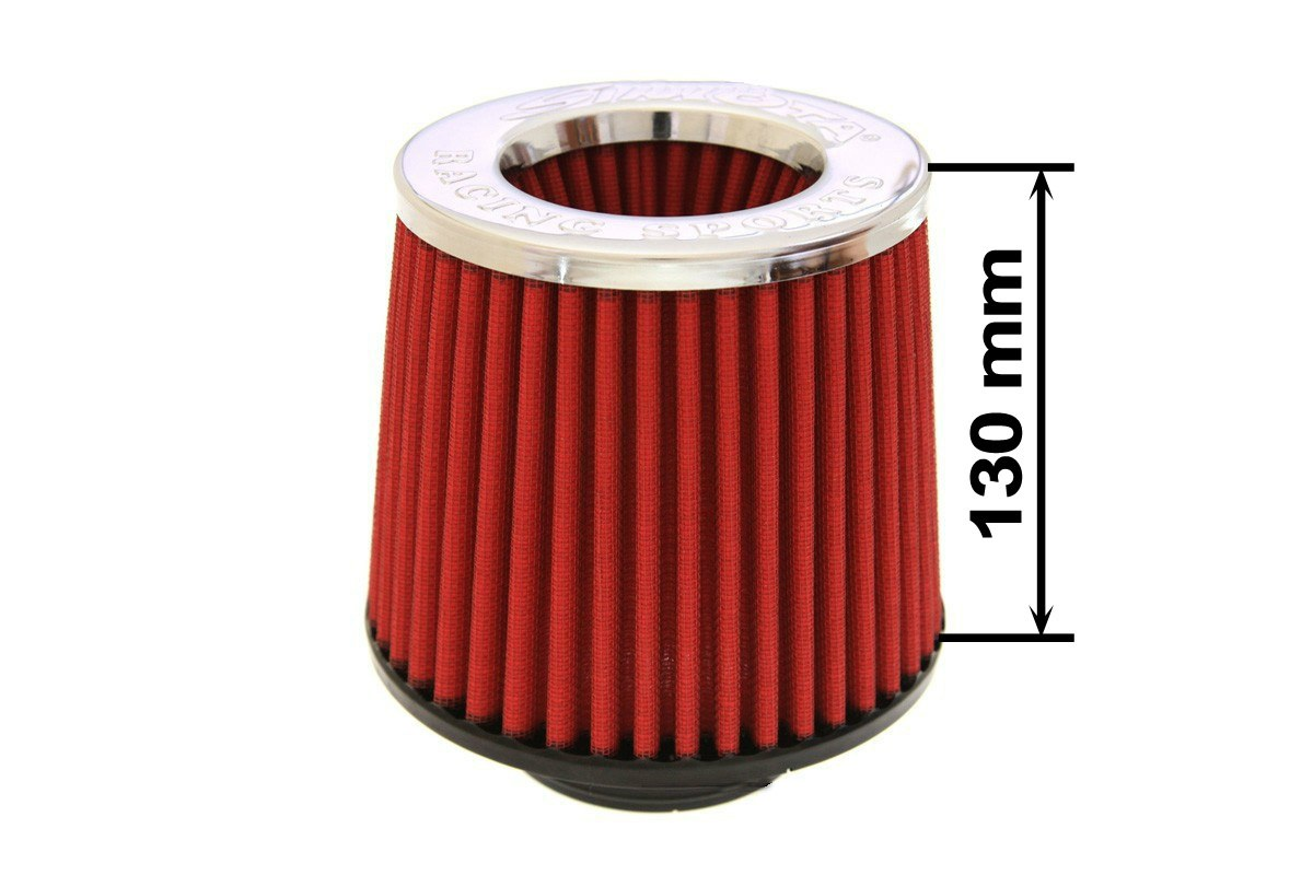 Filtr stożkowy SIMOTA JAU-X02102-05 60-77mm Red - GRUBYGARAGE - Sklep Tuningowy